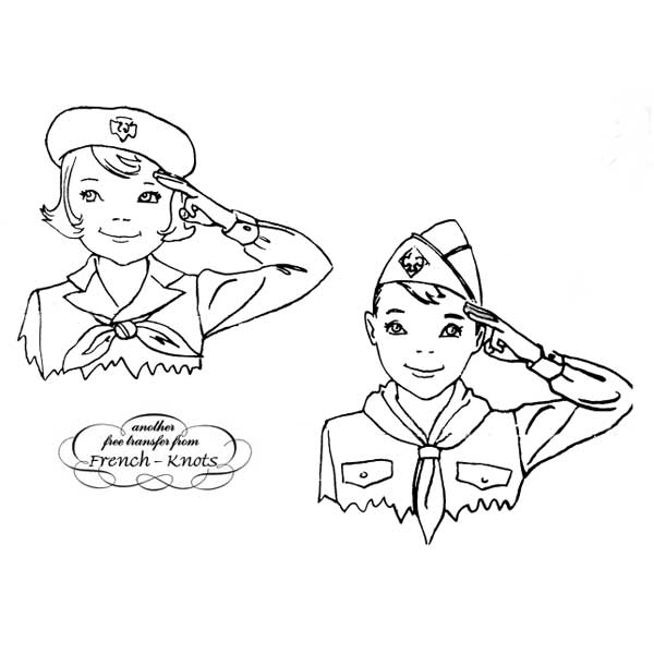 salute embroidery pattern