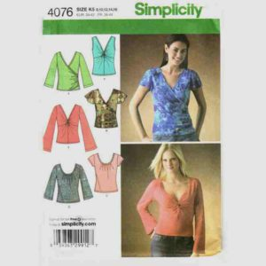 Simplicity 4076 wrap top pattern