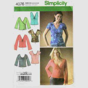 Simplicity 4076 wrap top pattern