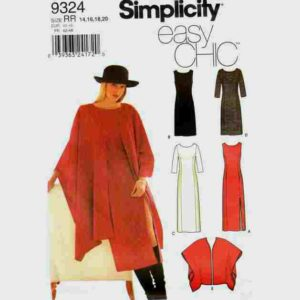 Simplocity 9324 ruana and dress pattern