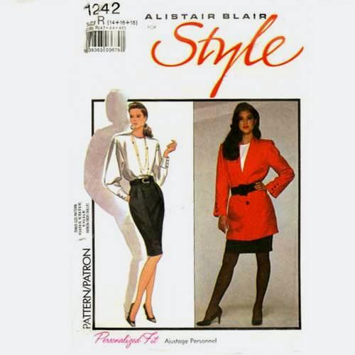 style 1242 long jacket pattern