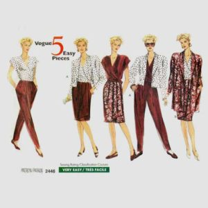 vogue 2446 sportswear pattern