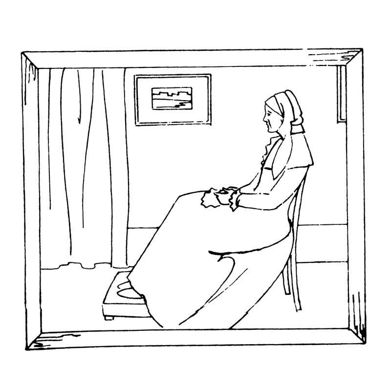 whistler's mother embroidery pattern