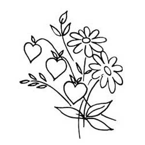 hearts and flowers embroidery pattern