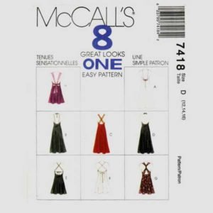 McCalls 7418 strappy dress pattern