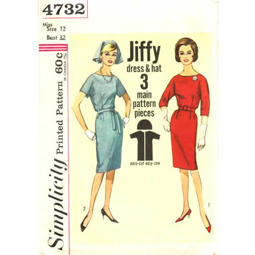 Simplicity 4732 vintage dress pattern