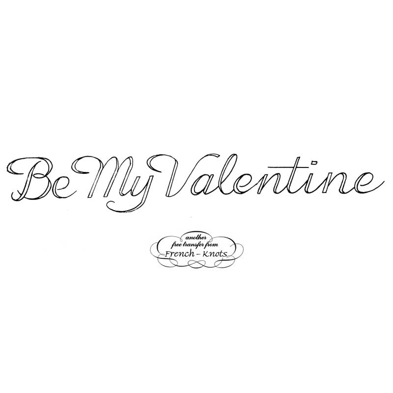 be my valentine embroidery