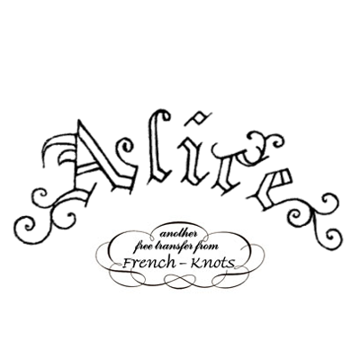 alice monogram embroidery pattern