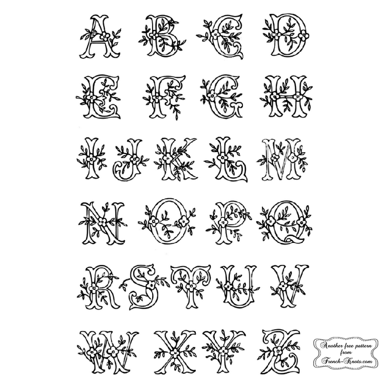 alphabet embroidery patterns