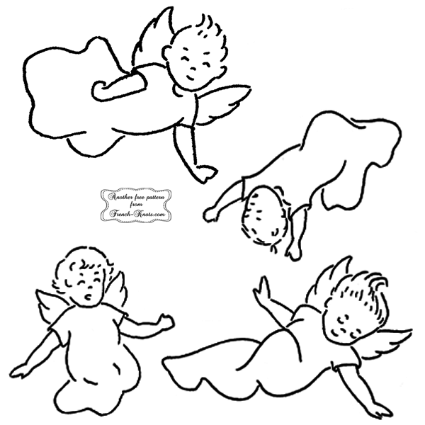 angel babies embroidery patterns