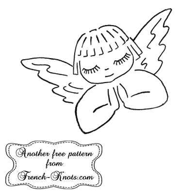 girl angel embroidery pattern