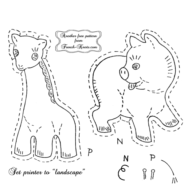 baby animals applique embroidery pattern