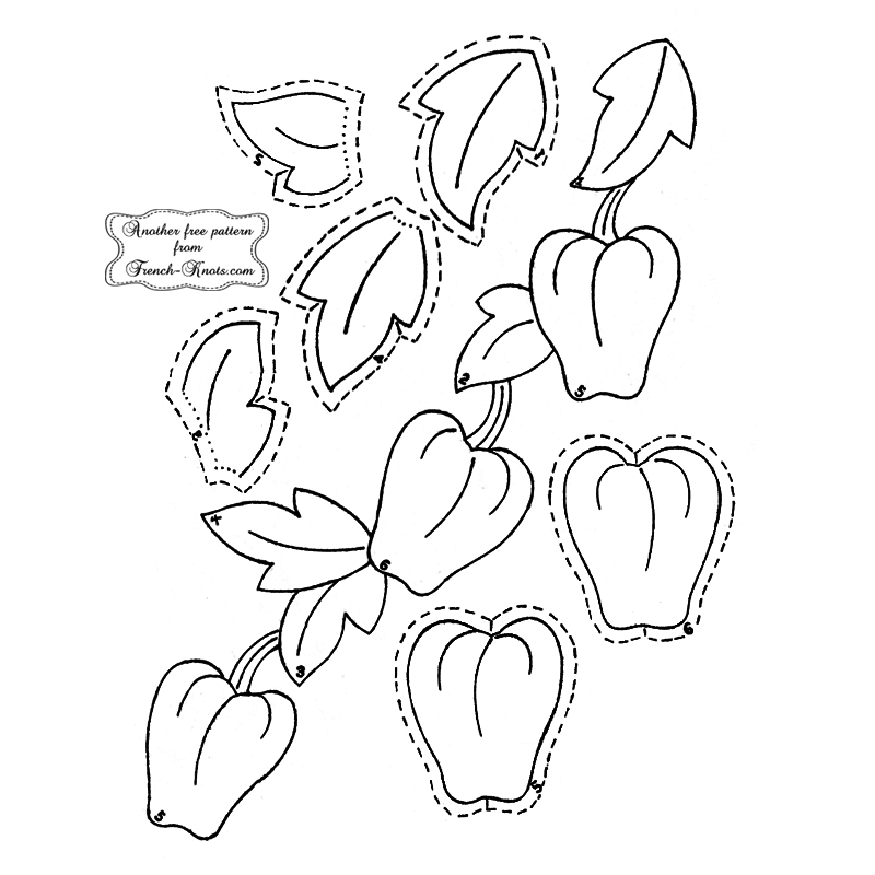 apple applique embroidery pattern