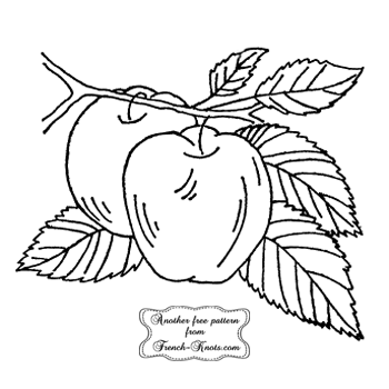 apples embroidery pattern