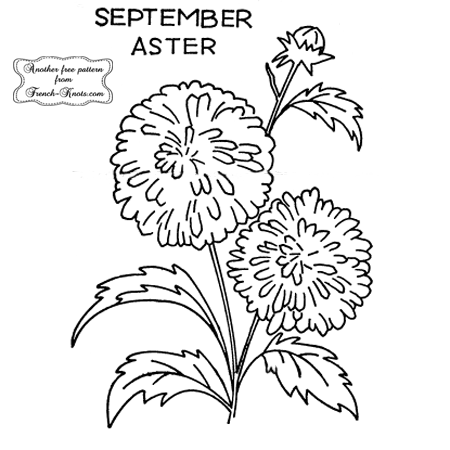 aster embroidery pattern