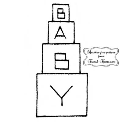 baby blocks embroidery pattern