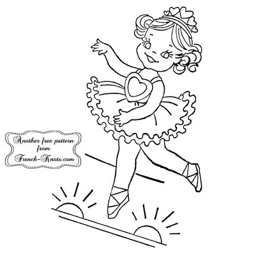 ballerina embroidery pattern