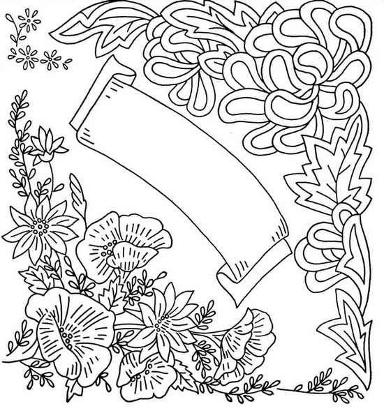 floral corners embroidery pattern