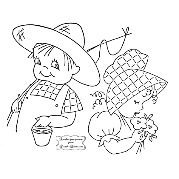 boy and girl embroidery patterns