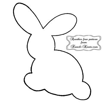 bunny rabbit applique pattern