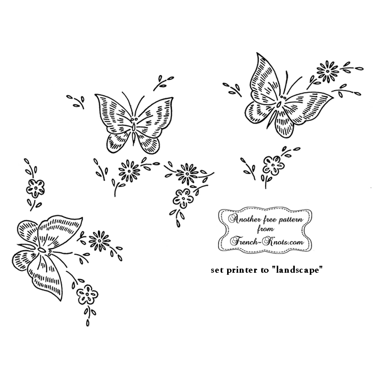 butterfly border embroidery pattern