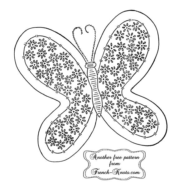 butterfly potholder embroidery pattern