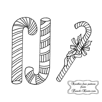 candycanes embroidery pattern