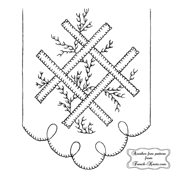 centerpiece embroidery pattern