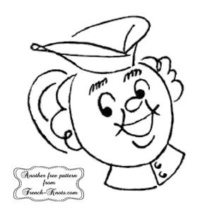 retro chef embroidery pattern