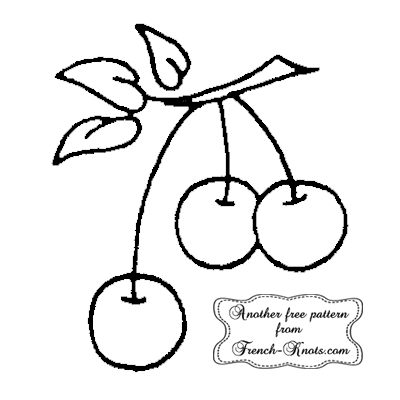 cherries embroidery pattern