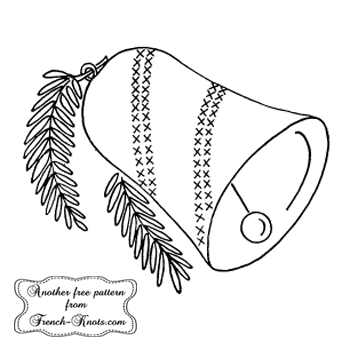 christmas bell embroidery pattern