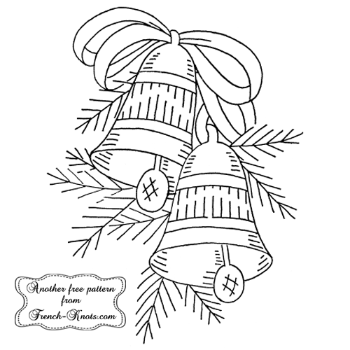 christmas bells embroidery pattern