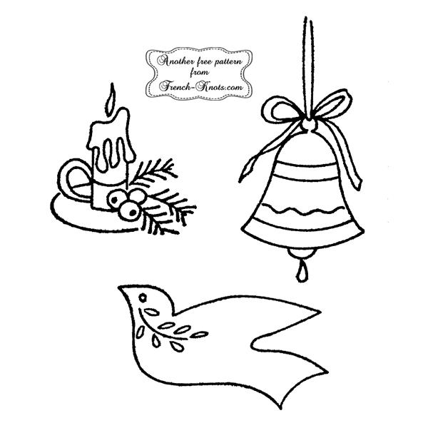 christmas motifs embroidery patterns