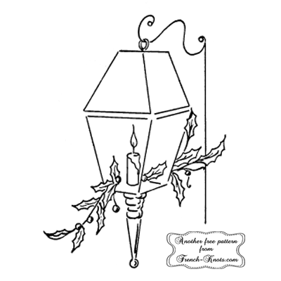 christmas lantern embroidery pattern
