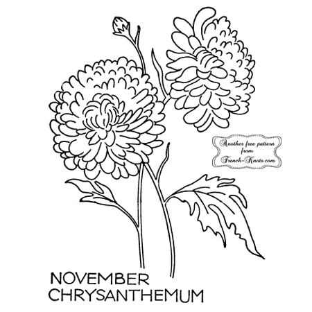 chrysanthemum embroidery pattern