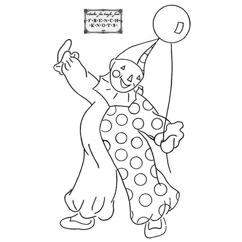 clown embroidery pattern