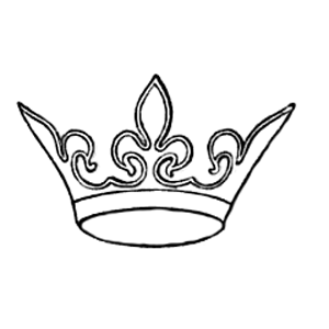 crown embroidery pattern