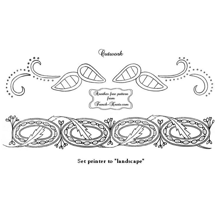 cutwork border embroidery pattern