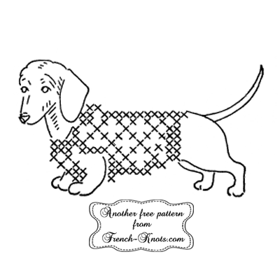 dachshund embroidery pattern