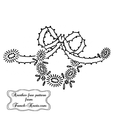 daisy wreath embroidery pattern