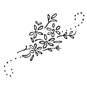 daisy spray embroidery pattern