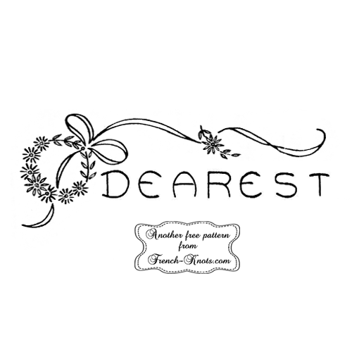 dearest embroidery pattern