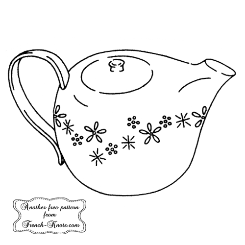 pitcher embroidery pattern
