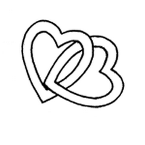 double hearts embroidery pattern