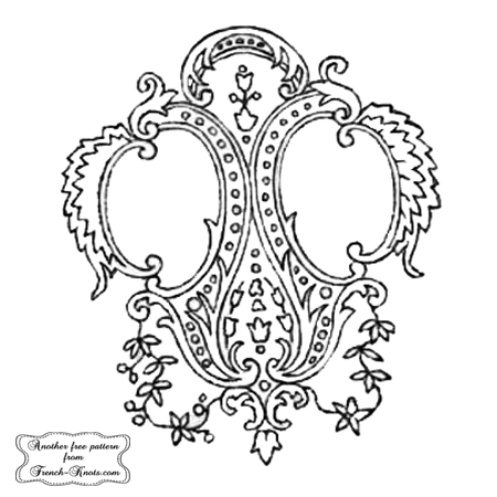 double monogram frame embroidery pattern