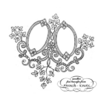 double monogram frame embroidery patter