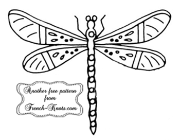 dragonfly embroidery pattern