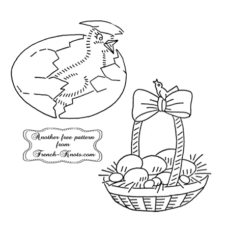 easter basket embroidery pattern