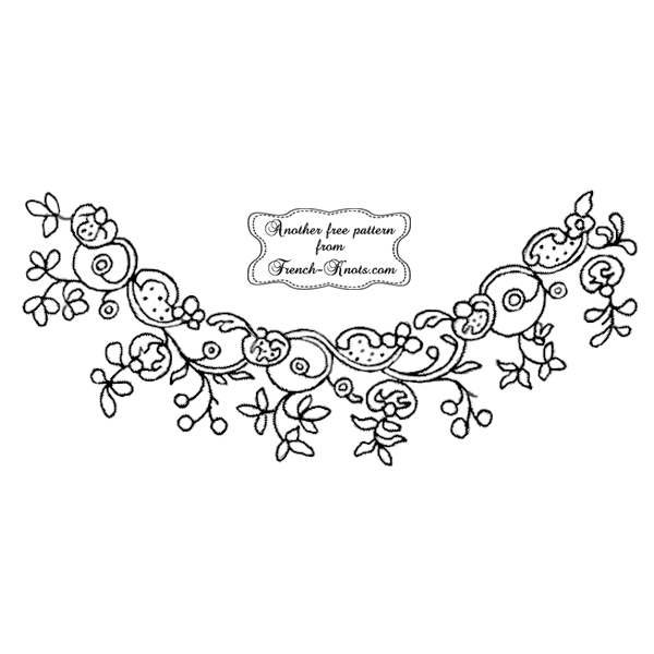 floral border embroidery pattern