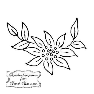 single flower motif embroidery pattern